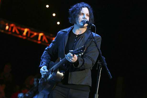 Jack White performs at the Bridge School Benefit Concert at the Shoreline Amphitheatre on Saturday, Oct. 20, 2012, in Mountain View, Calif. (Photo by Barry Brecheisen/Invision/AP)
