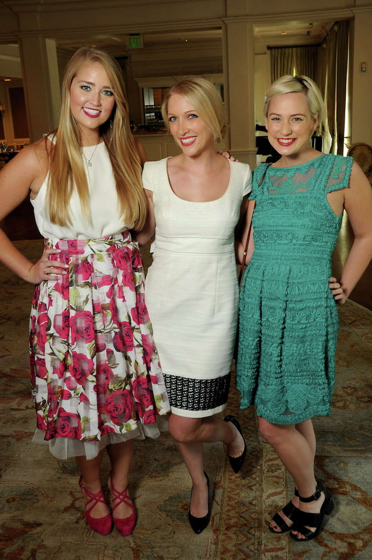 From left: Caitlin Miclot, Kristin Pendleton and Kelsey Becker at the Power of Literacy Luncheon at the River Oaks Country Club Wednesday Sept. 14,2016. (Dave Rossman Photo)