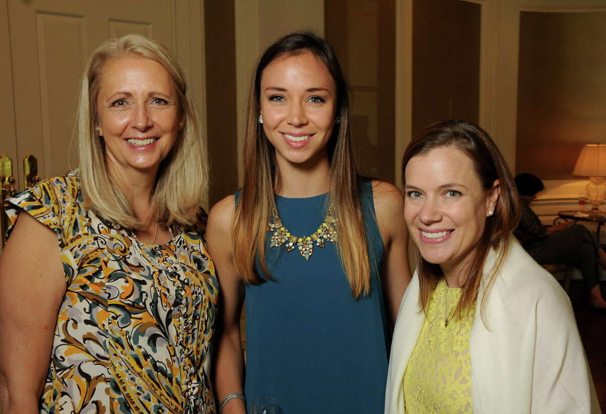 From left: Elaine Stolte, Anjelika Stolte and Jill Buja at the Power of Literacy Luncheon at the River Oaks Country Club Wednesday Sept. 14,2016. (Dave Rossman Photo)