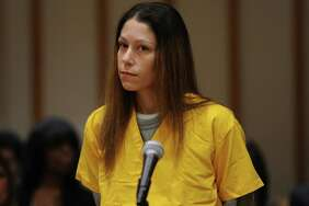 Jennifer Valiante, accused of helping her boyfriend, Kyle Navin, fatally shoot his Easton parents and bury their bodies in a friend's yard, is facing eight years in prison after pleading guilty to the charges against her on Friday, Nov. 17, 2017.