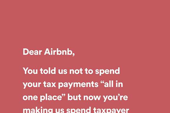 A new ad campaign by Share Better, an advocacy group, takes Airbnb to task for fighting San Francisco's short-term rental laws.