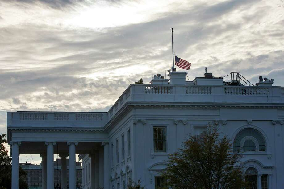 The United States flag flies at half-staff atop the White House in remembrance of 9/11. A reader expresses disappointment that so many flags were not flown at half-staff on the 15h anniversary of 9/11. Photo: AL DRAGO /NYT / NYTNS