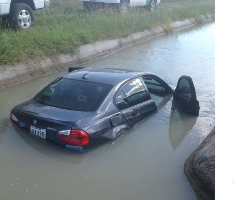 Two people were arrested in Pharr, Texas, near McAllen, after U.S. Customs and Border Protection agents pursued a vehicle they saw being loaded with narcotics, which was later driven into an irrigation canal, Sept. 13, 2016. Photo: Courtesy/U.S. Customs And Border Protection