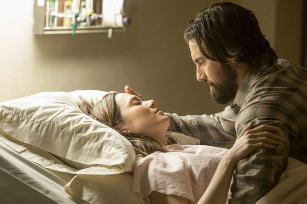 Mandy Moore andMilo Ventimiglia play a husband and wife in a moving hospital scene in captivating NBC drama 'This is Us.'
