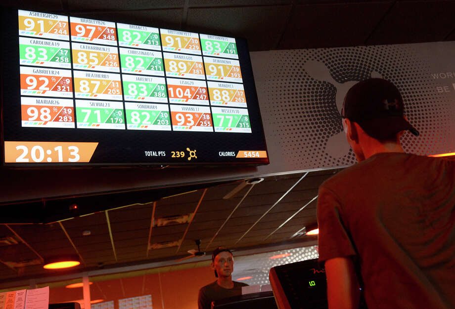 Orangetheory Fitness class participants can monitor their progress and heart rate in real time on monitors at the gym. James Durbin/Reporter-Telegram Photo: James Durbin / James Durbin / © 2016 Midland Reporter Telegram. All Rights Reserved.