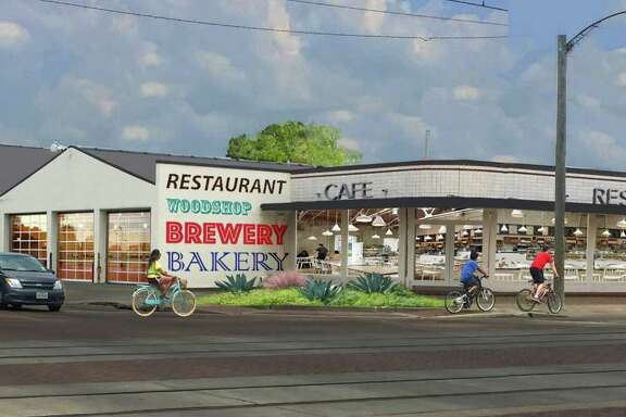 A rendering of the Plant at Harrisburg, a redevelopment project at 3401 Harrisburg in Houston's East End whose tenants will include a cafe, an artisan-owned factory and the non-profit galleryHomeland.