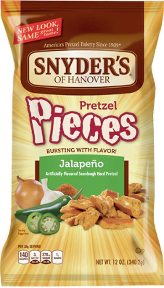 """On his Table Hopping blog, Steve Barnes admitted that Snyder's of Hanover's jalapeno-flavored pretzels were his go-to """"commercial snack-food indulgence"""" of the moment. He then asked the Table Hopping community to step up and admit their weaknesses. Photo: Product Photo"""