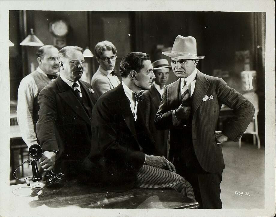 """Edward G. Robinson (right) in """"The Widow From Chicago."""" Photo: Warner Archive"""