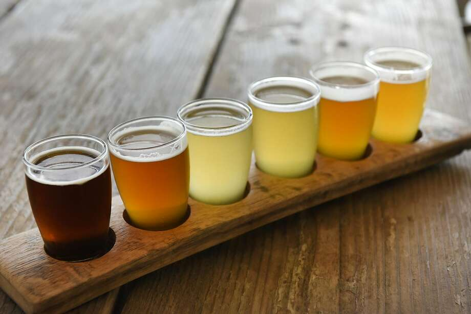 A sampling of beer at Berryessa Brewery Co. in Winters. Photo: Michael Short, Special To The Chronicle