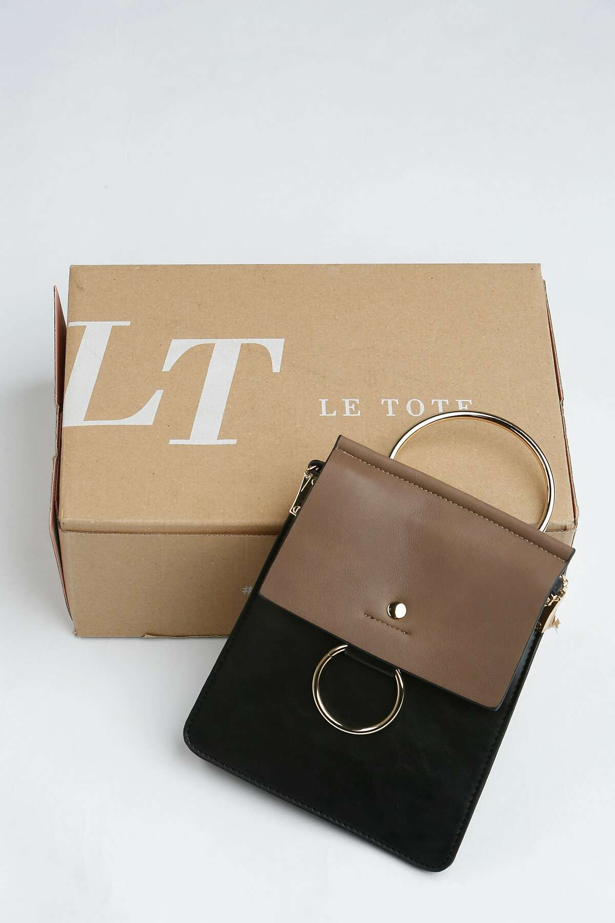 A Le Tote box and purse are seen on Tuesday, September 13, 2016 in San Francisco, California.