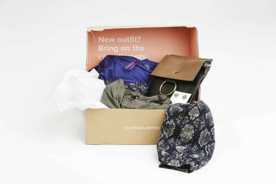 A Le Tote box with maternity fashions and accessories. Photo: Lea Suzuki, The Chronicle
