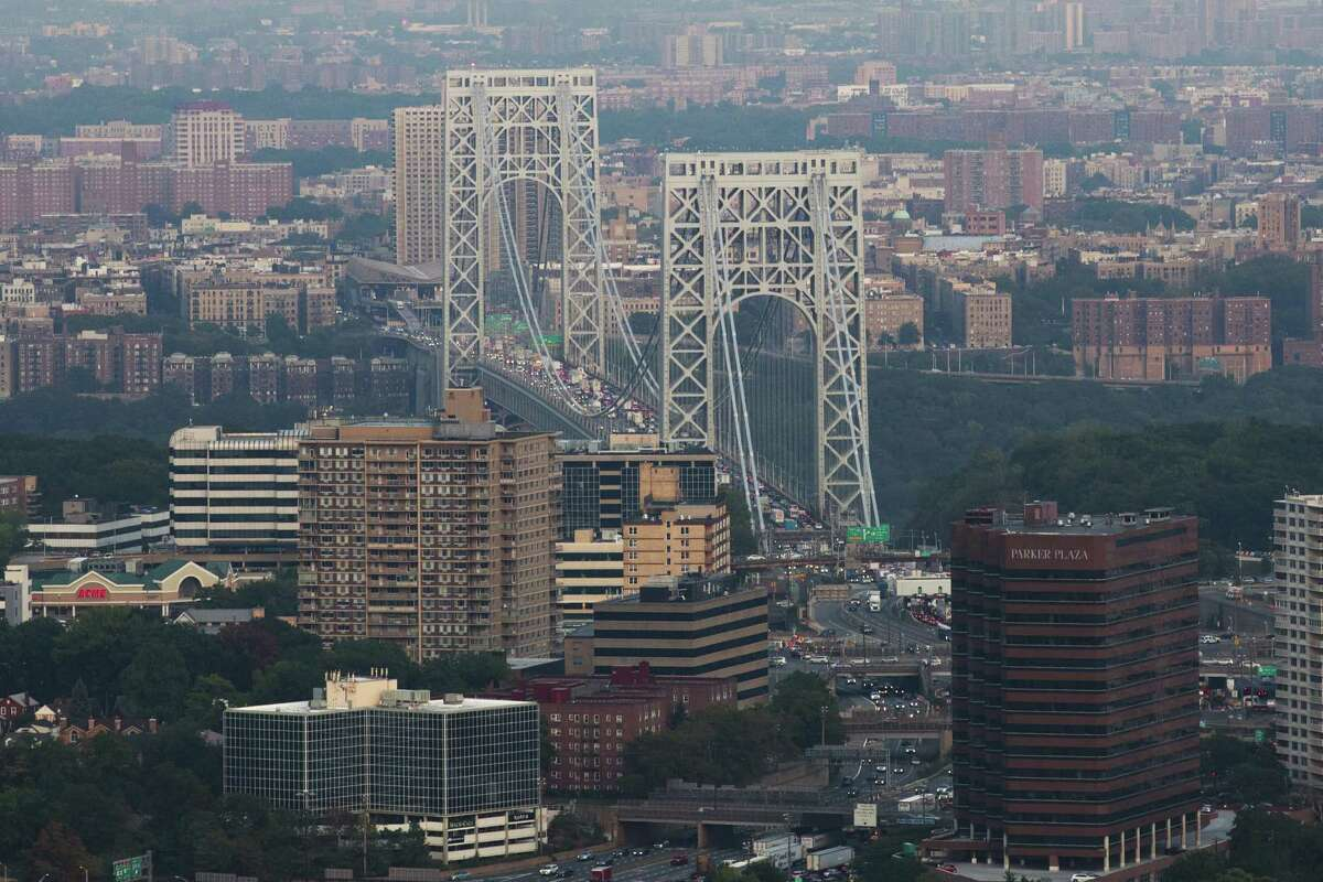 NEW YORK, NY - SEPTEMBER 8: An aerial of the George Washington Bridge, September 8, 2016 in New York City. (Photo by Drew Angerer/Getty Images)