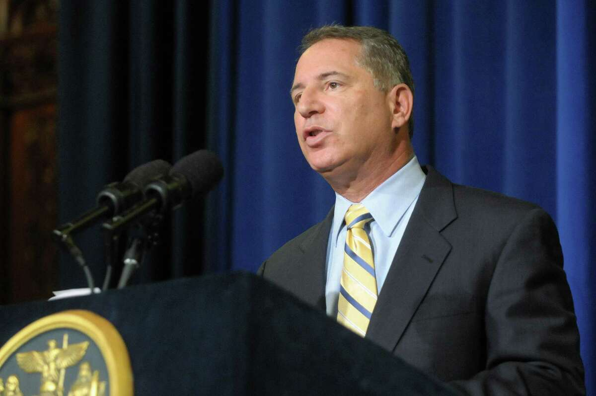 Howard Glaser, director of state operations and senior policy adviser to Governor Andrew Cuomo, addresses members of the media at the Capitol on Thursday, Aug. 23, 2012, in Albany, N.Y. (Paul Buckowski / Times Union archive)