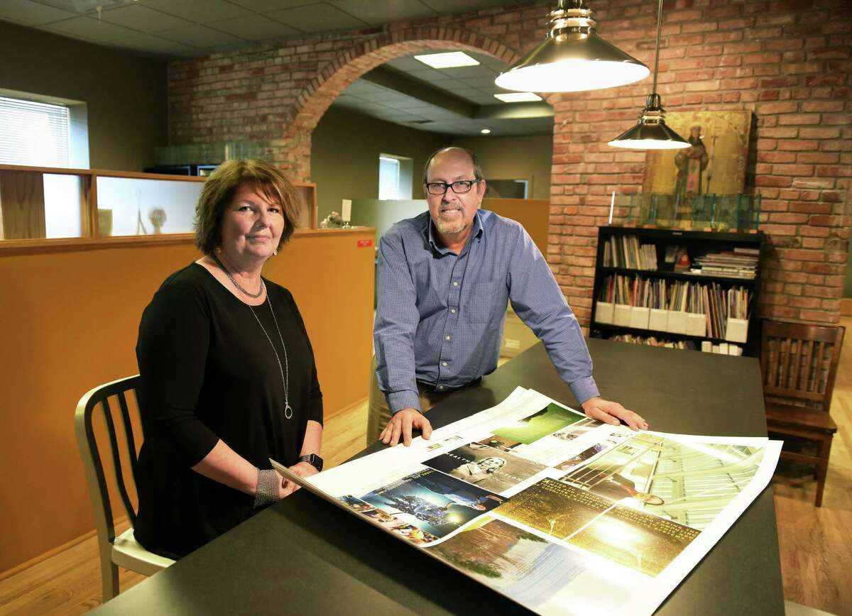Oberlander Group co owners Mel Quinlan, left, and John Oberlander in their offices on Remsen Street Tuesday Sept. 13, 2016 in Cohoes, NY. (John Carl D'Annibale / Times Union)