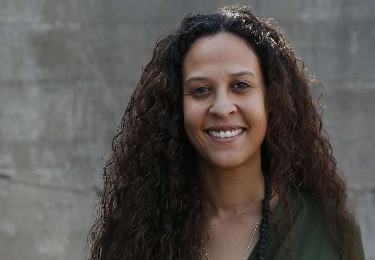 Valerie Noisette, Program Manager of Ann Ale Haiti is pictured at Worldreader's San Francisco office Sept. 13, 2016 in San Francisco, Calif.