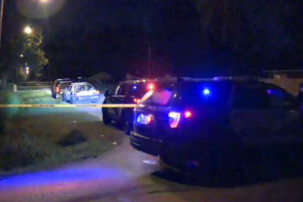 A woman died and three men were wounded in a drive-by shooting about 11:40 p.m.  Wednesday, Sept. 14, 2016, outside a home in the 16000 block of Saybrook in northeast Houston (Metro Video)