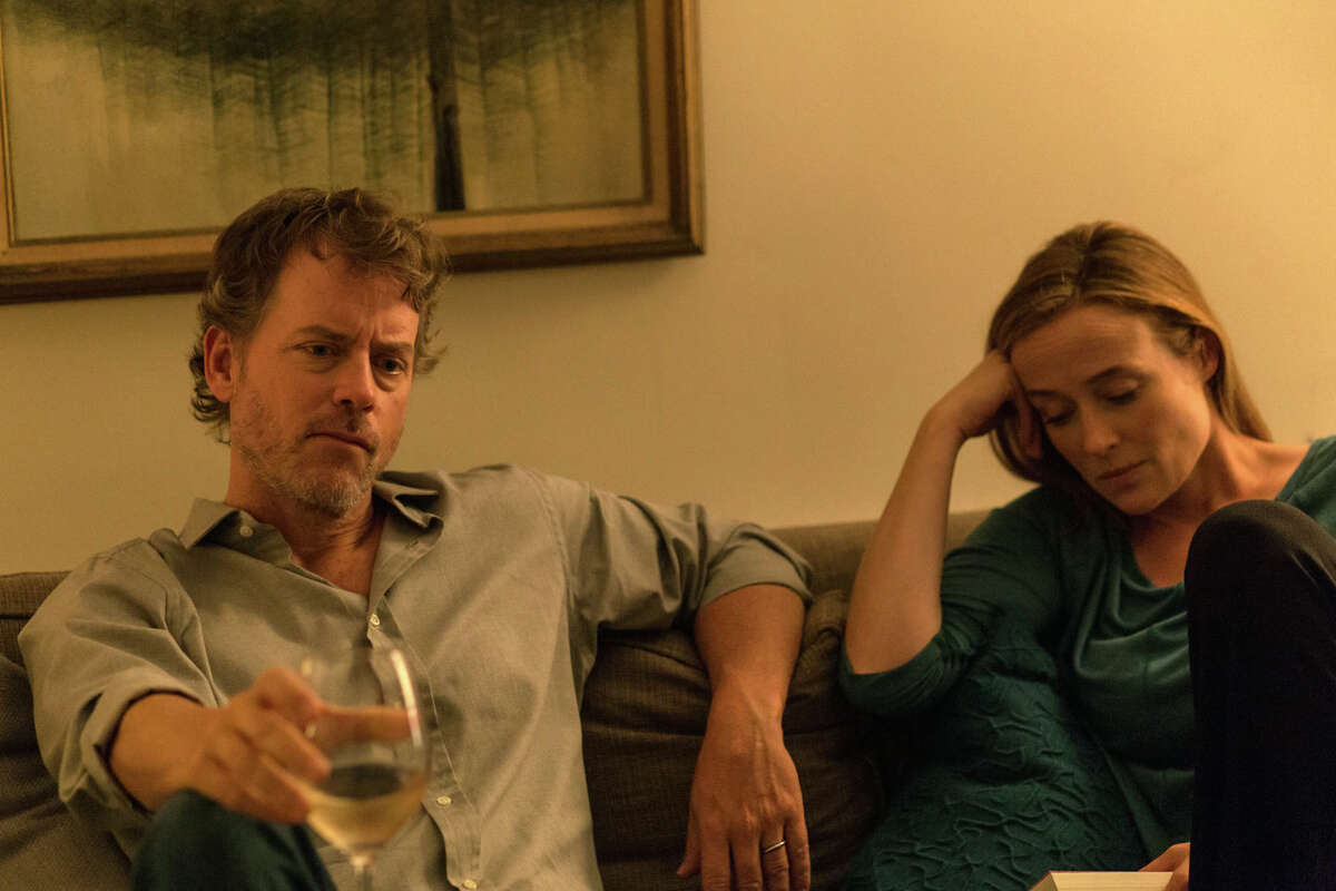 This image released by Magnolia Pictures shows Greg Kinnear, left, and Jennifer Ehle in a scene from,