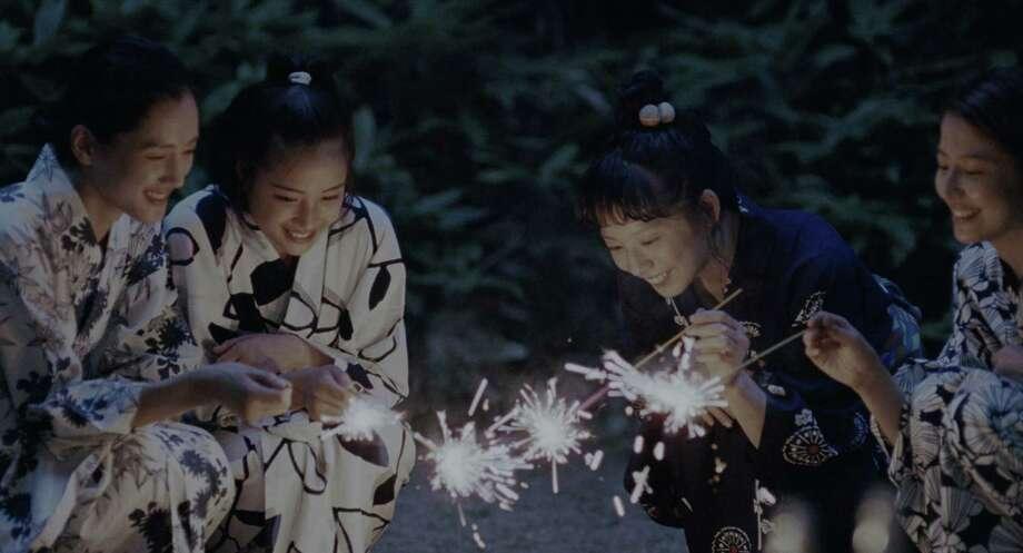"Masami Nagasawa, Haruka Ayase, Kaho and Suzu Hirose in ""Our Little Sister."" (Akimi Yoshida) Photo: Akimi Yoshida, HO / TNS / TNS"