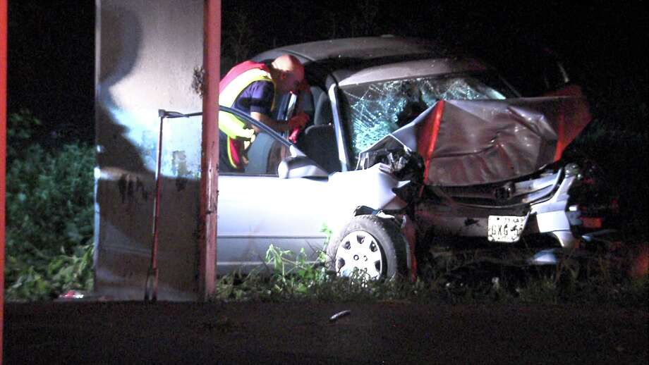 Horrific crash leads to dramatic rescue of woman overnight ...