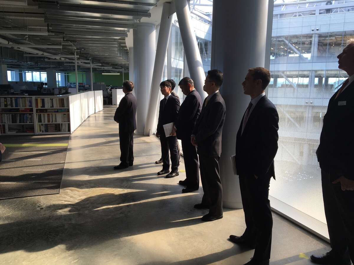 A group of Japanese business and government officials tour SUNY Poly's ZEN building earlier in the year. Source: Larry Rulison