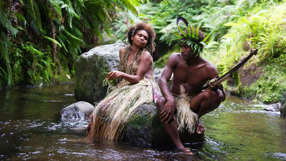 """Marie Wawa (left) and Mungau Dain of the Yakel tribe star in """"Tanna,"""" a young-love story based on a tribal legend. Photo: Contact Films"""