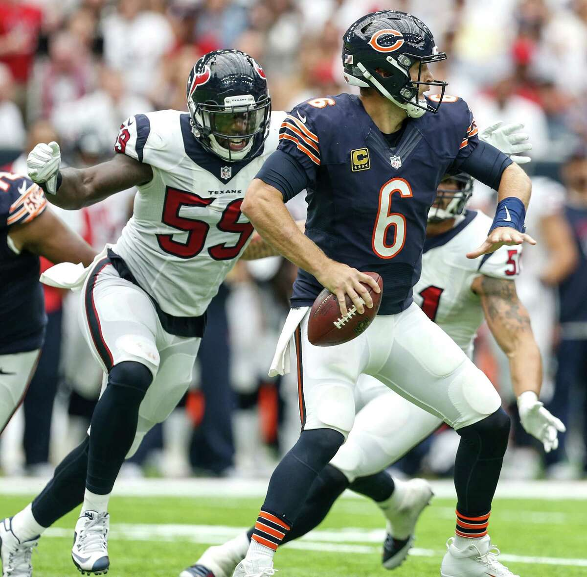 The Texans will try to make it 5-0 all-time against the Bears on Sunday. Houston won the 2016 meeting at NRG Stadium against the Jay Cutler-led Bears.