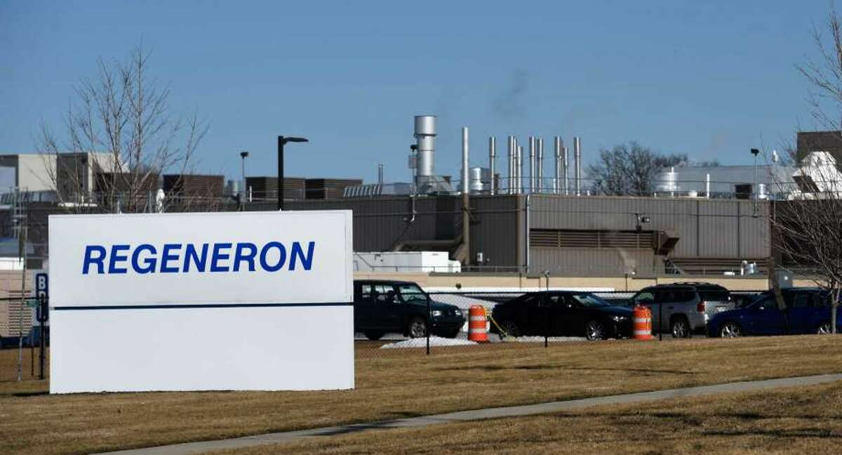 The exterior view of the Regeneron East Greenbush plant on Feb. 18, 2016