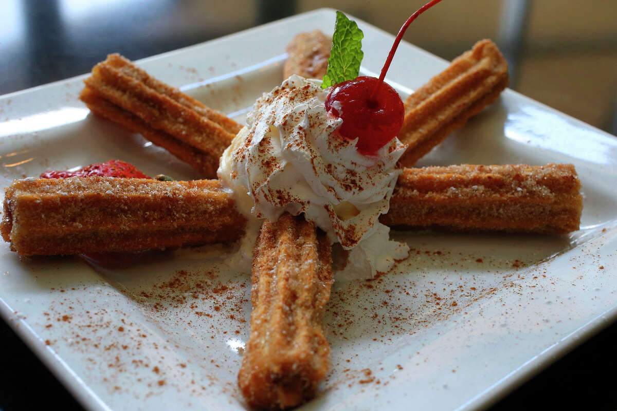 Housemade churros are a standout dessert at El Mirasol at Alon.