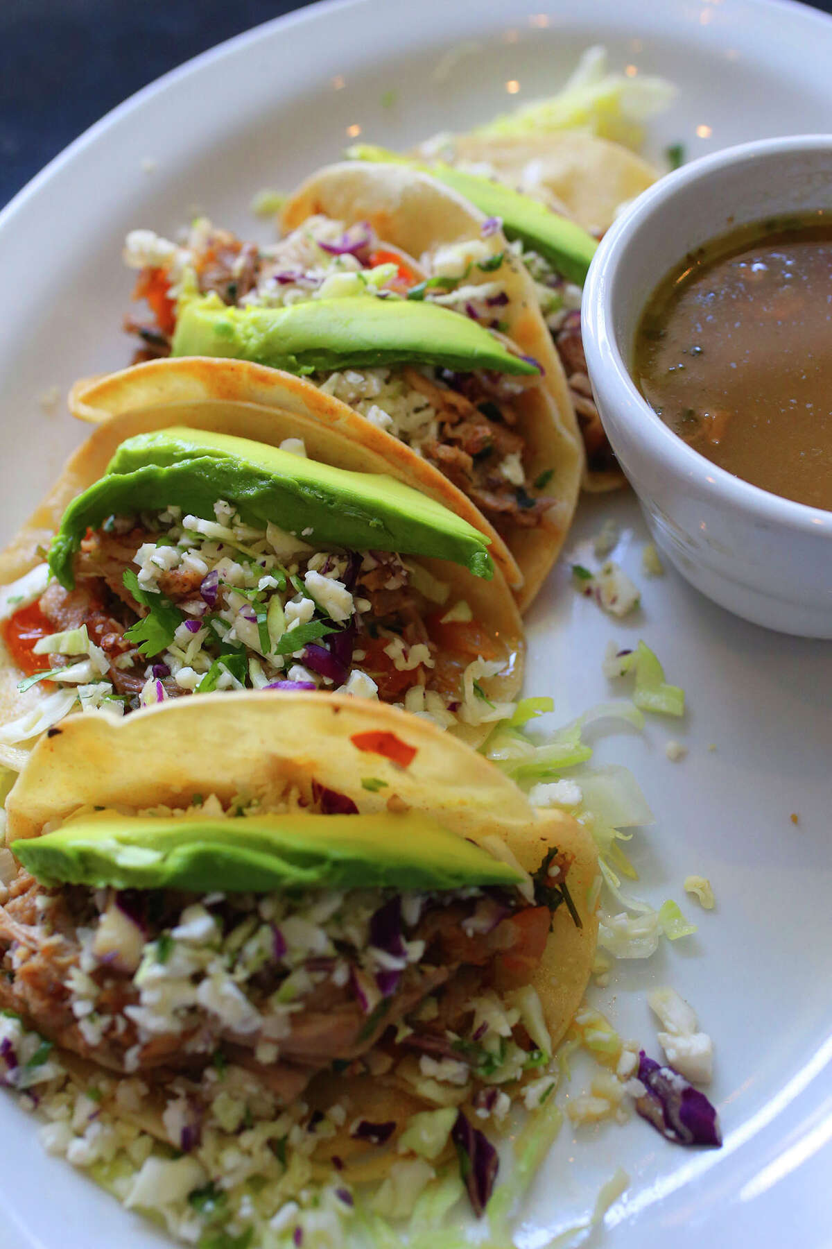 File photo of tacos. The owners of restaurant chain Don Pablo's Mexican Kitchen filed for bankruptcy Monday in San Antonio.