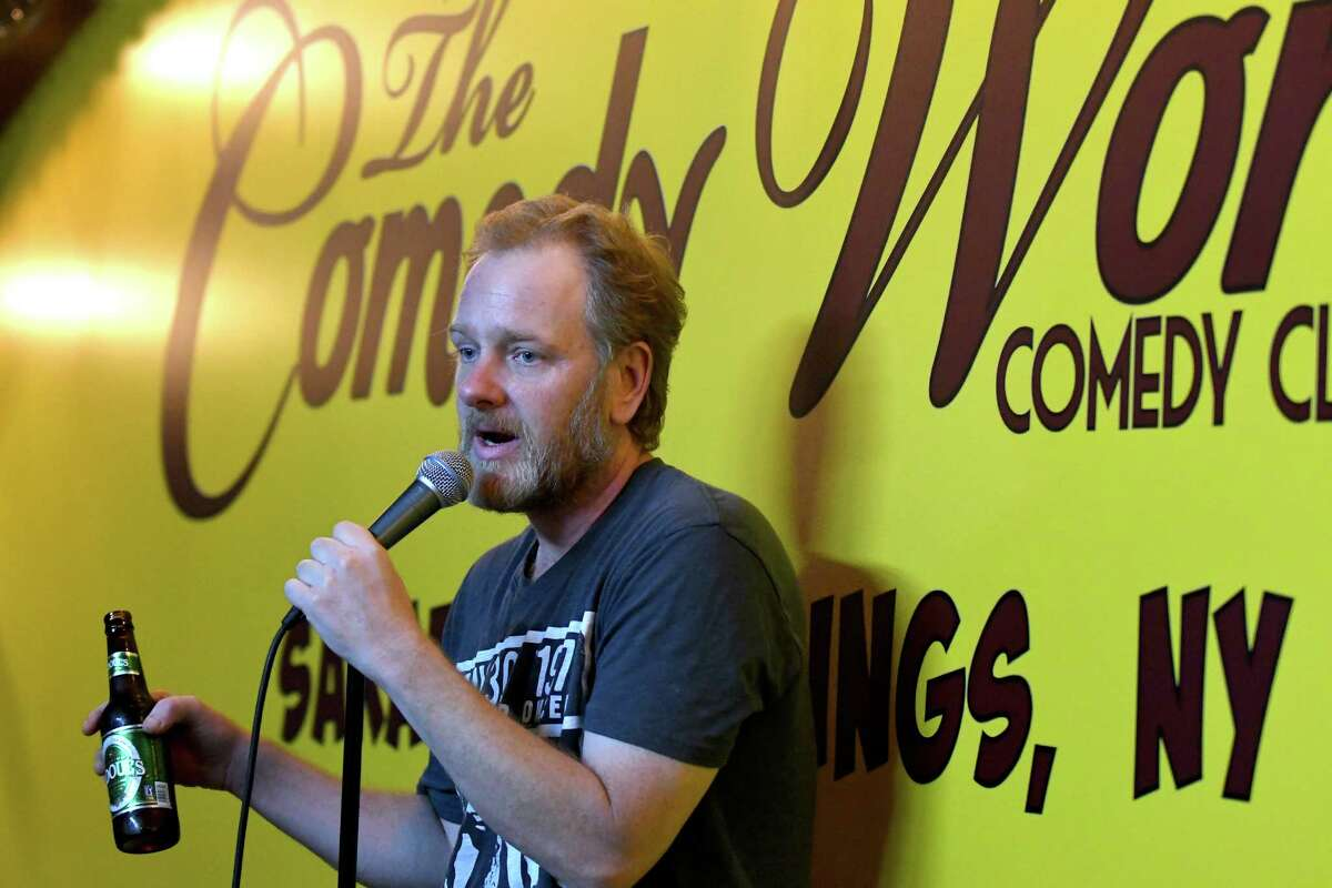 Professional comedian Rich Williams offers advice to local amateurs comics at at The Comedy Works on Tuesday Sept. 13, 2016 in Saratoga Springs, N.Y. Every week 20 to 30 local comedians gather at The Comedy Works to talk about their craft, offer each other support and feedback. (Michael P. Farrell/Times Union)