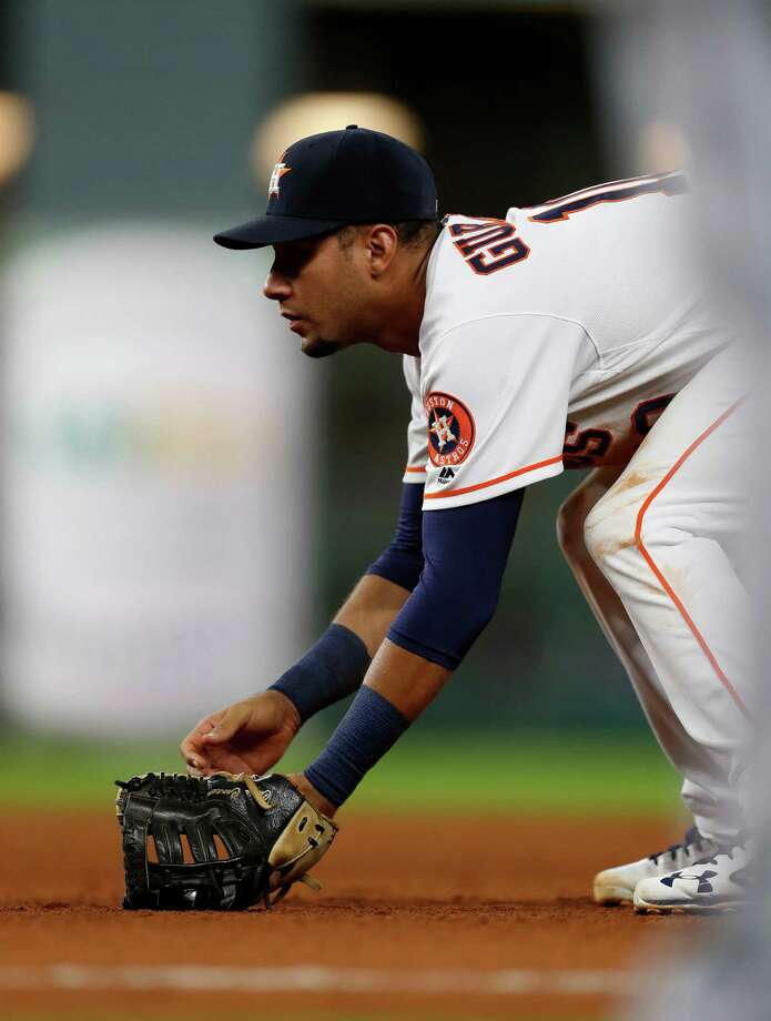 In all, Yulieski Gurriel has played in 25 straight games. His 15 seasons in Cuba had a schedule that was three consecutive games followed by an off day. The schedule was more in his one season in Japan, but still not to the level as the Major Leagues. Photo: Karen Warren, Staff Photographer / 2016 Houston Chronicle