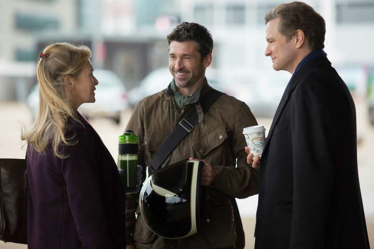 This image released by Universal Pictures shows Renee Zellweger, from left, Patrick Dempsey and Colin Firth in a scene from
