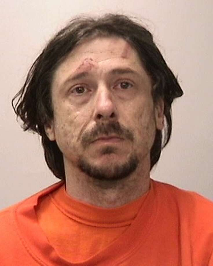 Robert Kaplan, 37, of San Diego, was arrested after throwing tree branches at pedestrians and biting a San Francisco police officer who was trying to arrest him in the Mission District, officials said. Photo: San Francisco Police Department / San Francisco Police Department