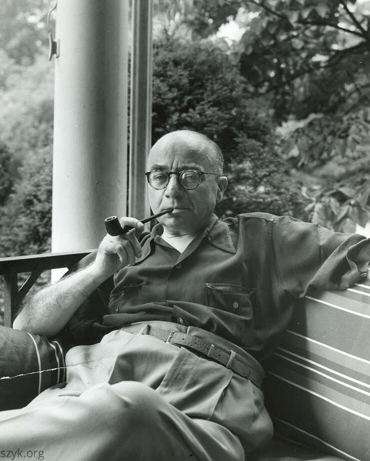 Arthur Szyk on his porch in New Canaan, Conn. in 1946. Photo: The Arthur Szyk Society / Contributed Photo / New Canaan News