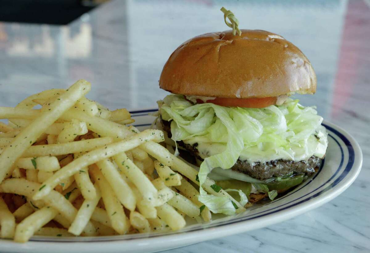 The liberty burger is shown at Liberty Kitchen at the Treehouse, 963 Bunker Hill Rd.