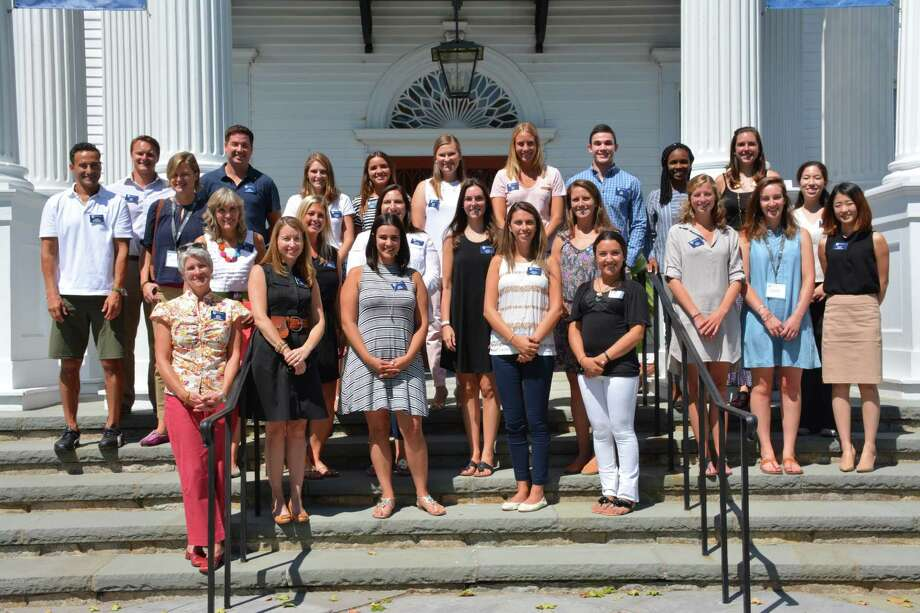 A photo from the New Canaan Country School in New Canaan, CT, of their new staff in fall 2016. Photo: Contributed Photo / New Canaan News
