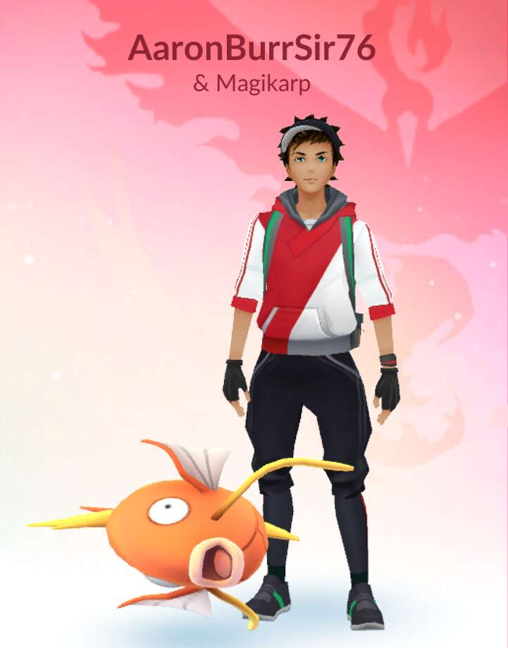 A man and his Magikarp goes for a walk