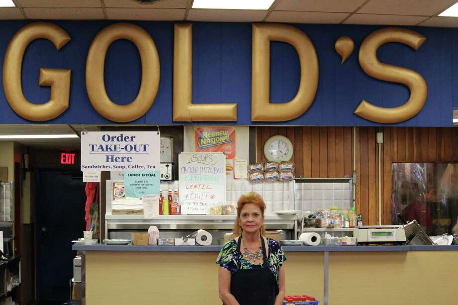 Karen Alexios has worked at Gold's Deli for over 22 years. Photo: Chris Marquette / Hearst Connecticut Media / Westport News