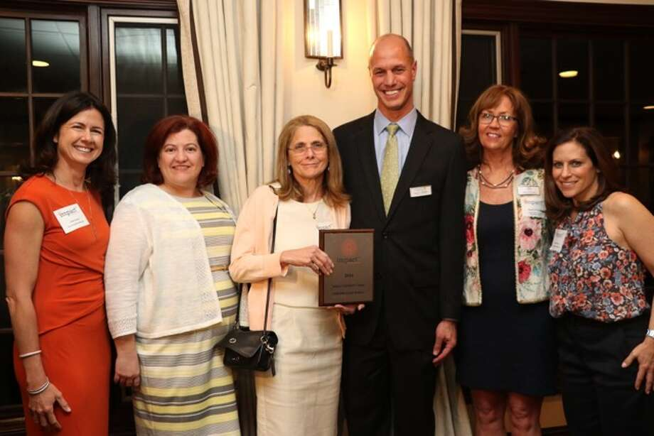 From left, Vicki Craver, co-founder of Impact Fairfield County, Barbara McLaughlin, director of Inspirica's Early Childhood and Parenthood Program, Patty Roberts, chairman of Inspirica's board, Jason Shaplen, Inspirica's CEO and Wendy Block, Impact's co-founder. Last May Impact Fairfield County gave a $10,000 grant to Inspirica for its new Early Childhood and Parenthood Program. Photo: / Contributed Photo
