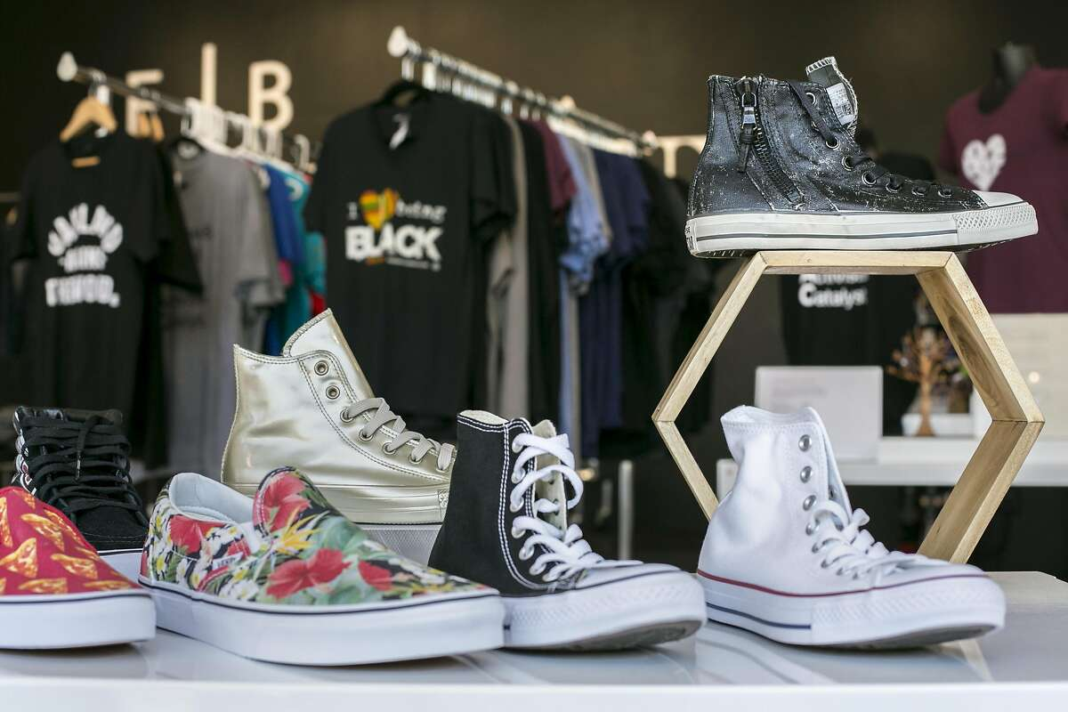 The apparel and shoes at SoleSpace on Thursday, Sept. 15, 2016 in Oakland, Calif.