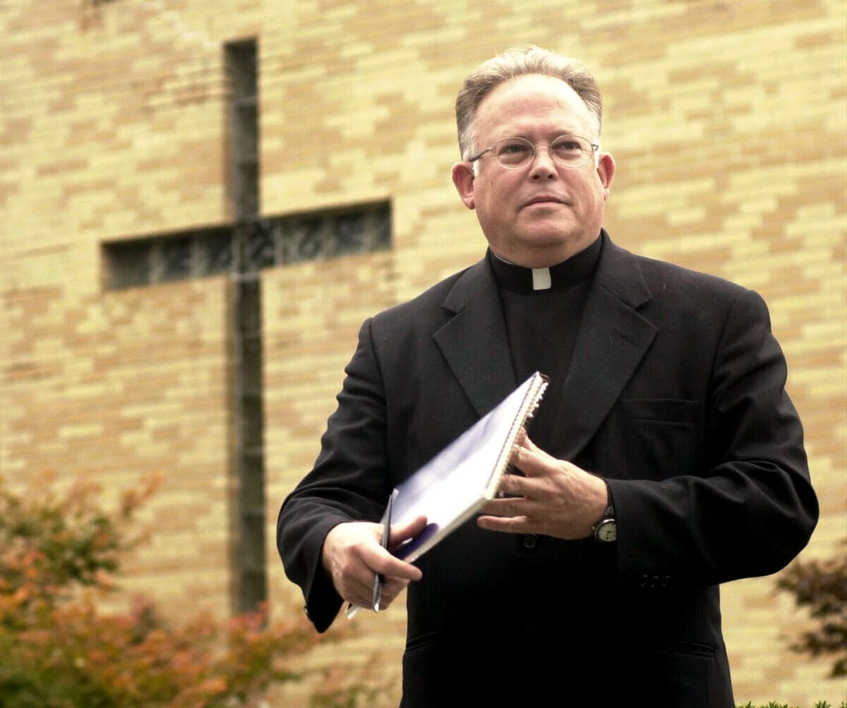 The Rev. Robert Morrissey pictured at St. Mary's Church in Ridgefield, Conn.
