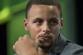 Stephen Curry, a professional basketball player with the National Basketball Association's (NBA) Golden State Warriors, attends the TechCrunch Disrupt San Francisco 2016 Summit in San Francisco, California, U.S., on Tuesday, Sept. 13, 2016. TechCrunch Disrupt, the world's leading authority in debuting revolutionary startups, gathers the brightest entrepreneurs, investors, hackers, and tech fans for on-stage interviews. Photographer: David Paul Morris/Bloomberg