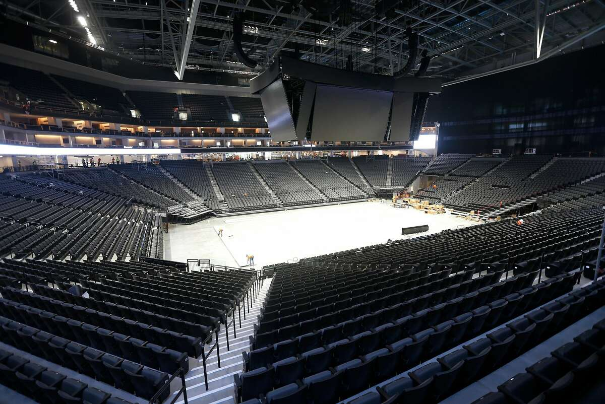 A huge video display is suspended above the Golden 1 Center arena in Sacramento, Calif. on Wednesday, Sept. 14, 2016. The new home of the Sacramento Kings is the most technologically advanced venue in the sports and entertainment industry.