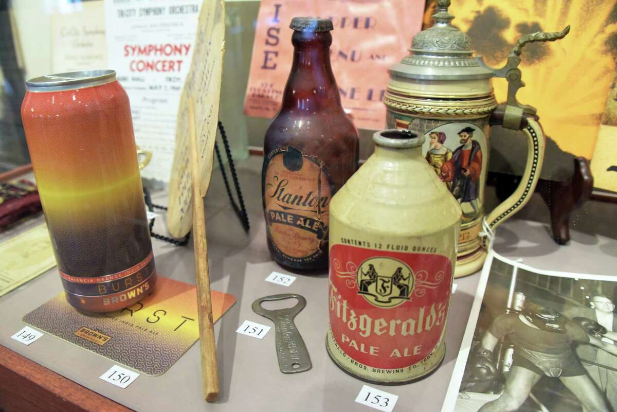Old and new Troy beers on display at the Rensselaer County Historical Society's new bicentennial exhibit