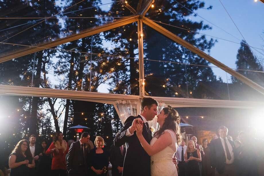 Shawna Sund and David Faris wed April 2 at Evergreen Lodge bordering Yosemite National Park. Photo: Patrick Pike Photography