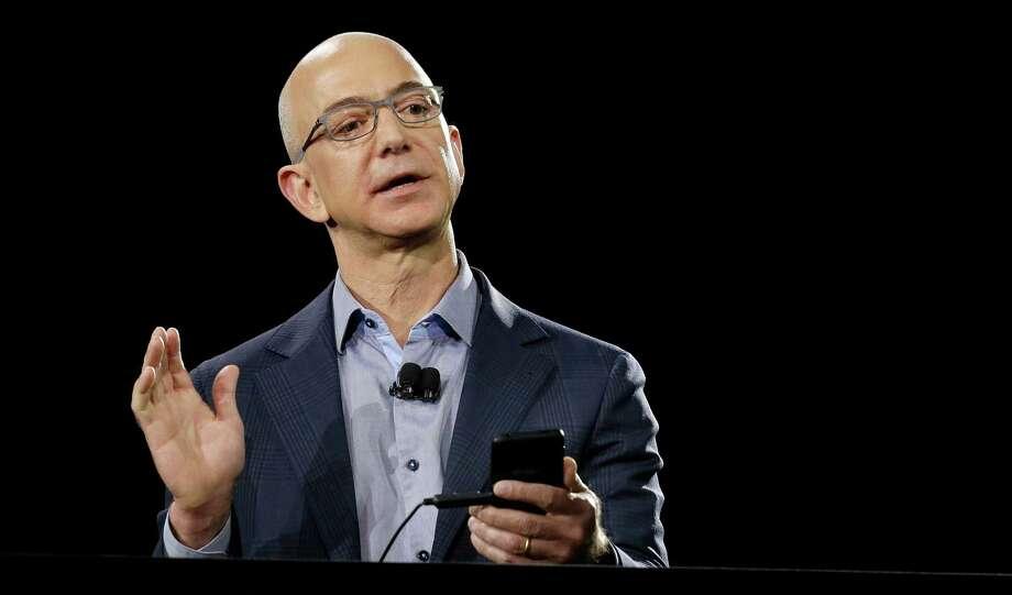 Amazon.com founder Jeff Bezos.          (AP Photo/Ted S. Warren) Photo: Ted S. Warren, STF / AP