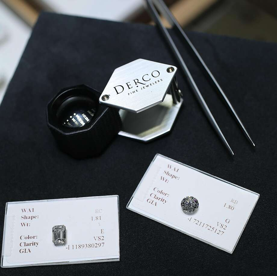 Diamonds are displayed at Derco Fine Jewelers in S.F. Photo: Liz Hafalia, The Chronicle