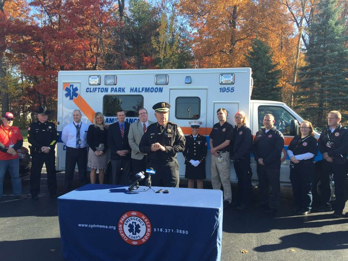 Clifton Park & Halfmoon Emergency Corps Saratoga County Sheriff Michael Zurlo plans to launch a convoy of emergency and other vehicles to prompt awareness of the need for unwrapped new toys for 2015 Marine Corps Reserve Toys for Tots drive.