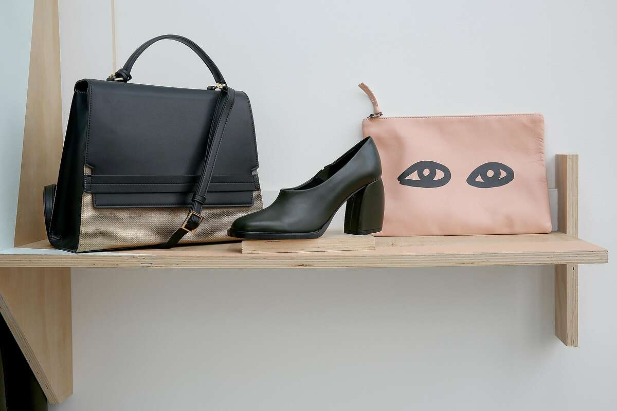A shoe and purse display at Le Point boutique on Tuesday, September 13, 2016, in San Francisco, Calif.