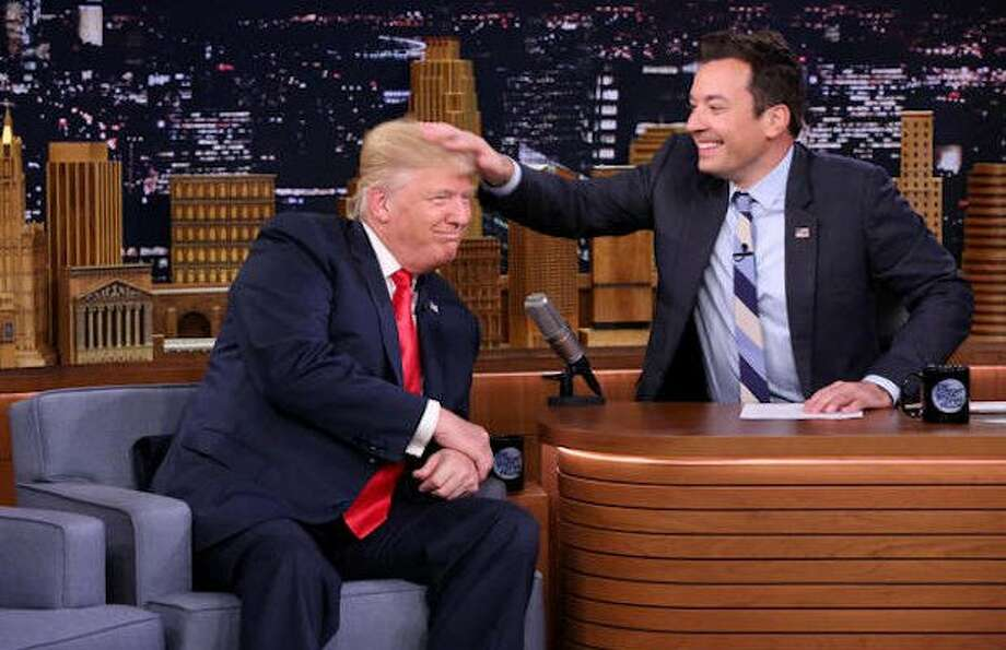 Then-candidate Trump on Jimmy Fallon's show in 2016.